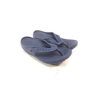 Crocs Navy Blue Flip Flops Kid's Size 12